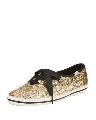 kate spade new york Keds® glitter sneaker, gold $85 thestylecure.com
