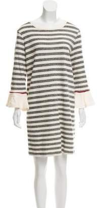 White + Warren Long Sleeve Shift Dress