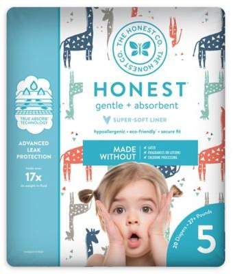 The Honest Company Honest 20-Pack Size 5 Diapers in Multicolored Giraffe Pattern