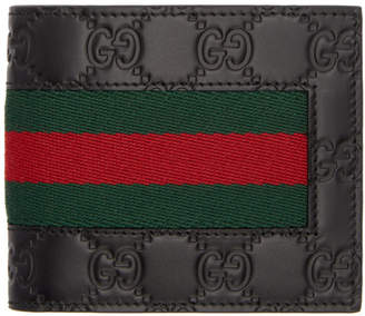 Gucci Black Signature Web Wallet