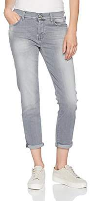 7 For All Mankind Women's Josefina Boyfriend Jeans, (Slim Illusion Crystal Grey 0dc), W24/L27 (Size: 24)