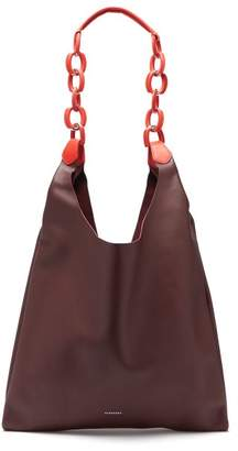 Burberry Medium Leather Shopper Tote - Womens - Burgundy