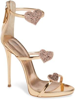 Giuseppe Zanotti Triple Heart Strappy Sandal