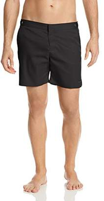 Parke & Ronen Men's Catalonia Solid 6 inch Swim Short