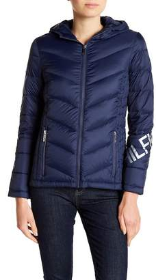 Tommy Hilfiger Packable Puffer Jacket w/ Hoodie