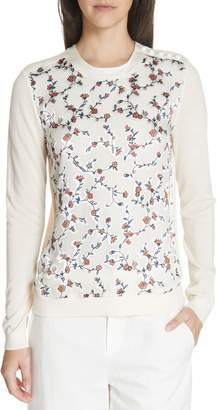 Tory Burch Marcella Floral Merino Wool Sweater