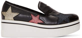 Stella McCartney Black Binx Stars Slip-On Sneakers