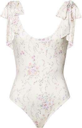 LoveShackFancy Floral Swimsuit