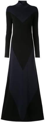 LAYEUR colour block jersey dress