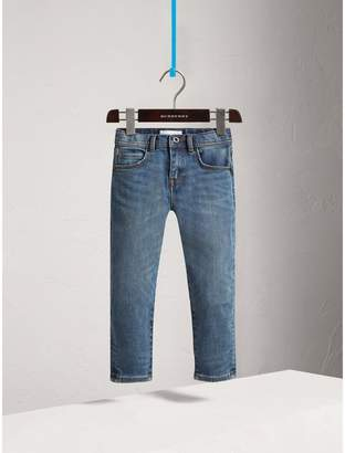 Burberry Relaxed Fit Stretch Denim Jeans , Size: 14Y, Blue