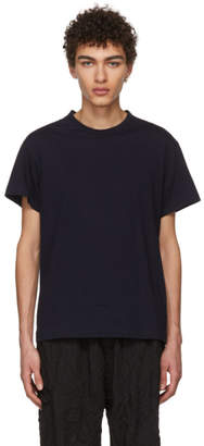 Yohji Yamamoto SSENSE Exclusive Navy Address T-Shirt