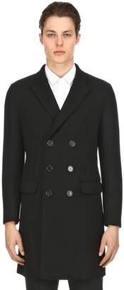Neil Barrett Skinny Double Breasted Wool Cloth Coat