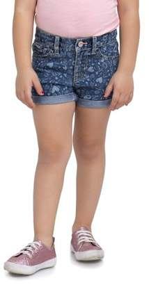 Jordache Toddler Girl Heart Printed Denim Roll-Cuff Shorts