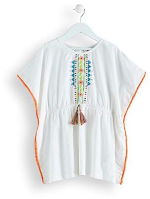 13be8bf4c9 RED WAGON Girl's Embroidered Cotton Kaftan Beach Dress,114 (Manufacturer  size: ...