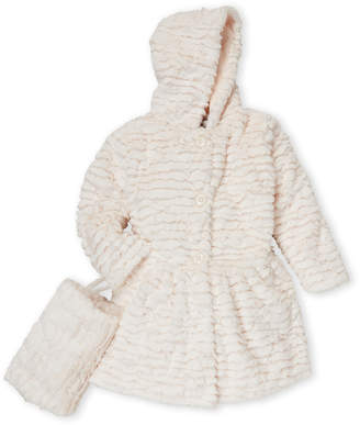 American Widgeon (Girls 4-6x) Ivory Faux Fur Coat