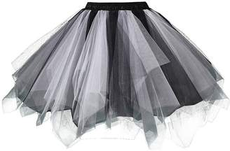 BIFINI Adult Women 80's Plus Size Tutu Skirt Layered Tulle Petticoat Halloween Tutu