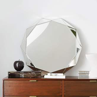 west elm Faceted Mirror - Large