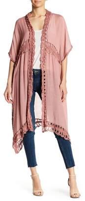 Forgotten Grace Crochet Inset Cardigan