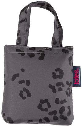d4226d82589d totes Grey Leopard Print Shopping Bag