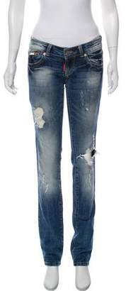 DSQUARED2 Low-Rise Distressed Jeans