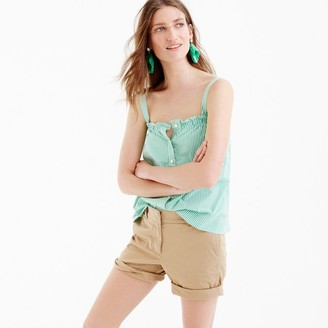 Button-front ruffle top $65 thestylecure.com