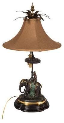 Maitland-Smith Elephant & Monkey Table Lamp