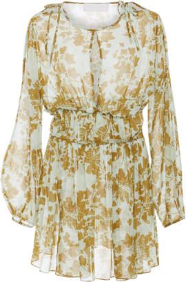 Jax Elliette Silk Mini Dress