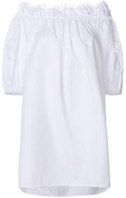 Ermanno Scervino off the shoulder lace sleeve dress