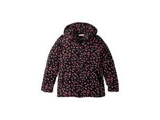 Stella McCartney Holly Printed Water Repellant Zip Hooded Jacket (Little Kids/Big Kids)