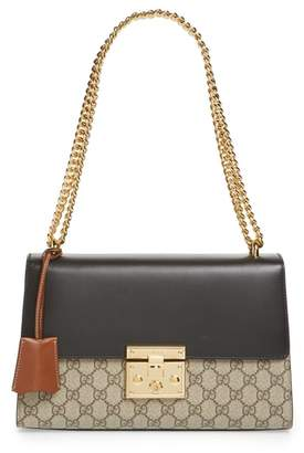 Gucci Medium Padlock Leather Shoulder Bag