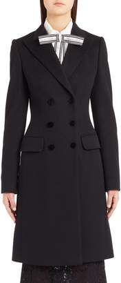 Dolce & Gabbana Double Breasted Wool & Cashmere Coat