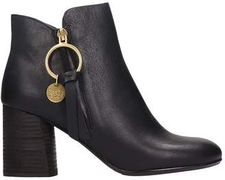 See by Chloe Louise Black Ankle Boots