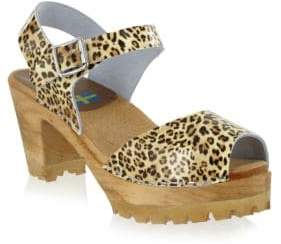 Mia Greta Leather Clog Sandals