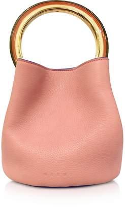 Marni Apricot Leather Pannier Bag
