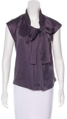 Lanvin Silk Sash-Tie Blouse