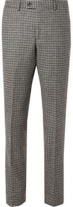 Piombo MP Massimo Grey Neruda Slim-Fit Houndstooth Virgin Wool Suit Trousers