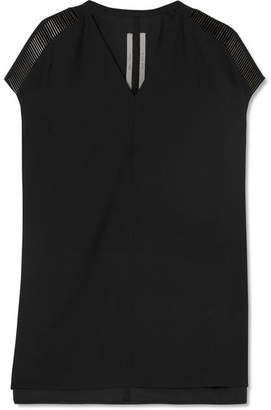 Rick Owens Embellished Crepe Top - Black