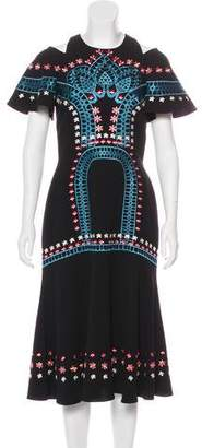 Temperley London Embroidered Midi Dress
