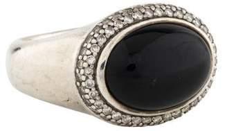 David Yurman Onyx & Diamond Signature Oval Ring