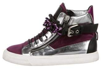 Giuseppe Zanotti Metallic High-Top Sneakers