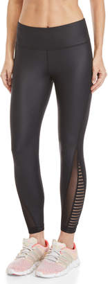 90 Degree By Reflex Striped Mesh Ankle Athletic Leggings