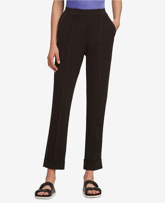 DKNY Contrast-Stitch Pull-On Pants