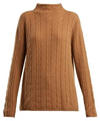 Connolly - High Neck Cable Knit Cashmere Sweater - Womens - Camel