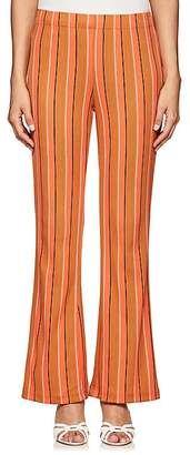 Simon Miller Women's Cyrene Striped Cotton-Blend Flared Pants