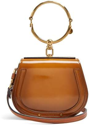Chloe - Nile Small Leather Suede Cross Body Bag - Womens - Tan