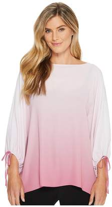 Vince Camuto Long Sleeve Ombre Echo Tie Cuff Blouse Women's Blouse
