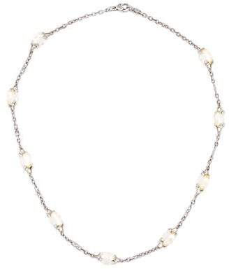 Judith Ripka Olivia Canary Crystal Station Necklace