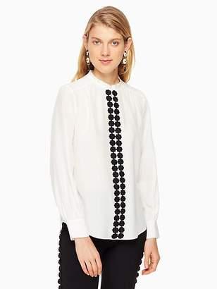 Kate Spade Floral lace trim shirt