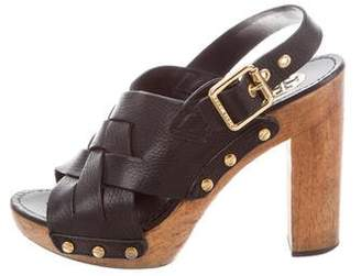 Tory Burch Woven Leather Sandals