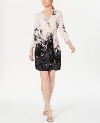 Calvin Klein Petite Printed Wrap Dress